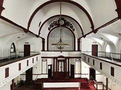 Originally built as Beth El (House of God) synagogue in 1902, this eventually became a church and after being abandoned was demolished to make way for luxury condos. (neilsharris) Tags: synagogueshul abandonedchicago