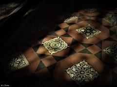 Minton Shadows (Adam.L.) Tags: wigan wiganlancashire wiganparishchurch church parishchurch anglicanchurch allsaintsparishchurch tiles mintonfloor mintontiles floor shadows light dark
