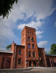 Old factory fire station (roomman) Tags: 2018 lodz poland industry culture history past story lost place lostplace industrial town city cities towns textile factory brick fire station