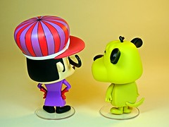 Funko – Vynl. – Hanna Barbera – Wacky Races – Dick Dastardly & Muttley Vinyl Figures Set – 2018 Summer Convention Exclusive – Back (My Toy Museum) Tags: funko vinyl pop vynl hanna barbera wacky races figure dick dastardly muttley terry thomas dog laughing