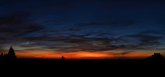Amazing sunset (Zejdla CZ) Tags: lanscape sunset moon panorama amazingcolours sky clouds nikond7000 sigma1750 nature
