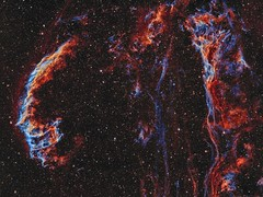 The Eastern Veil and Pickering's Triangle (NGC6992) imaged in HOO (Andrew Klinger) Tags: