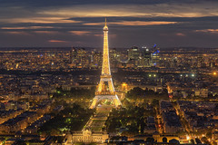 Glittering Eiffel (rajaramki) Tags: paris france eiffeltower nightphotography sunset