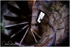 Spiral staircase at the Castle Rushen (Heathcliffe2) Tags: castle rushen isleofman tower stairs staircase step steps walls turn climb climbing heritage stone interior architecture building rail railing banister up down ancient old history helical spiral newel