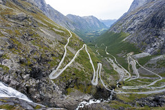 Norway, Trollstigen (Lucie Maru) Tags: landscape norway roadtrip rock rocks mountains trollstigen serpentinemountainroad hairpinbends incline road