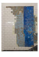 [ B L E U  /  B L A N C  /  R O U G E ] (michelle@c) Tags: urban city found art wall tiles tribute simonhantaï metro pontmarie paris iv troiscouleurs blue white red blau weiss rot cinematographic mmmkk 2018 michellecourteau