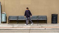 HELP WANTED (www.karltonhuberphotography.com) Tags: 2018 benches citystreets downtown karltonhuber man peoplewatching santaana sidewalk southerncalifornia streetphotography streetscene trashbins