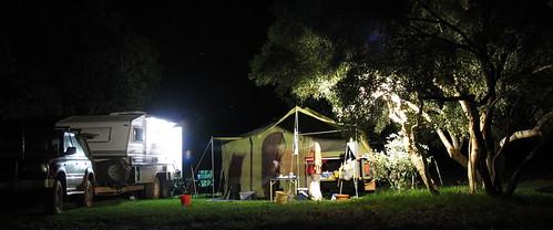 Campsite 6secs exp with Piranha camp flouro light