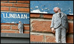 Isaac Cordal @ The Crystal Ship 2016 (Linda DV (back and catching up)) Tags: ribbet lindadevolder lumix belgium oostende ostend thecrystalship wwwthecrystalshiporg streetart 2018 geotagged urbanart collage isaaccordal httpcementeclipsescom cementeclipses ostende belgiancoast panasonic city