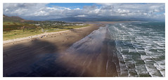 Black Rock Sands, Wales (dandraw) Tags: blackrocksands porthmadog harlech beach sea seascape seaside aerialphotography landscape wideangle panoramic sand summer drone dji mavicair wales snowdonia