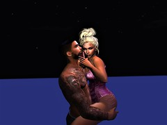 """"""" Carry on """" (maka_kagesl) Tags: sl second secondlife life water sky air clouds cloud blue dark night nighttime videogame virtual game gaming girl love luv lighting portrait pose posing couple"""
