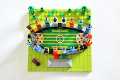 Microscale Quidditch Pitch top (Oky - Space Ranger) Tags: lego harry potter hogwarts quidditch pitch stadium hagrid microscale magic
