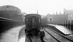 glc - waterloo necropolis station c1938 (johnmightycat1) Tags: railway lswr southern london
