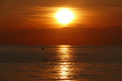 Tryna hold these golden years (nelesch14) Tags: summer sunset poreč sky ocean sea colours gold silhouette nature clouds sun sunlight mirror