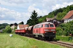 225 in Niedermohr (Nahebahner_JL) Tags: 225 073 215 glantal glan steinbruch schotterzug schotter schüttgut wagen db deutsche bahn cargo