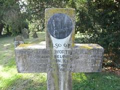 Private Henry James Worthington (Living in Dorset) Tags: wardead warmemorial wwi australian henryjamesworthington memorialplaque cross allsaintschurch farringdon hampshire england uk gb deadman'spenny