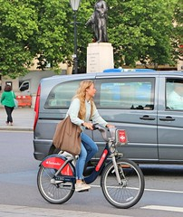 41582 (Waterford_Man) Tags: girl borisbike cycle wheels bike cycles jeans london