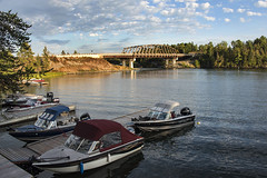 Sioux Narrows, Ontario, Canada (Seoulwoman) Tags: sioux narrows ontario canada fishing lakeofthewoods boats beidge lake