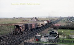 Falkland Yard 25196 on Hunterston flasks, note Barrier vans and 2 types of flask wagon early 80's c701 (Ernies Railway Archive) Tags: ayr falklandyard gswr lms scotrail