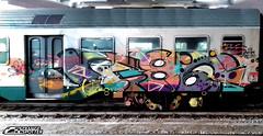 386 (StrangeSpotter) Tags: 386 graffiti graffitiart graffititrain traingraffiti train street streetart art painted paintedtrains italy