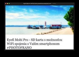 REVIEW: EyeFI Mobi Pro Wifi SD Karta PHOTOFRANO