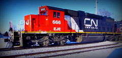 (timetomakethepasta) Tags: 666 freight train locomotive cn canadian national eje