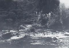 Watersmeet Devon 1950 (Bury Gardener) Tags: blackandwhite bw oldies old snaps scans monochrome mono 1950s 1950 devon england uk britain