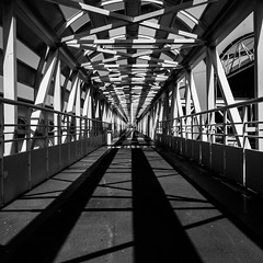 The shadow of a doubt (What shadow does to reality) (franleru1) Tags: france francoiselerusse blackandwhite contemporaryphotography fineartphotography geometry graphic monochrome noiretblanc photoderue shadow streetphotography urban