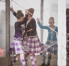 Practicing in the Tent - Cowal Highland Gathering 2018 (GOR44Photographic@Gmail.com) Tags: dancers dancing highlands highlandgathering kilt scotland argyll cowal people portrait gor44 girl purple panasonic g9 45200mmf456