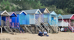 Another lazy day (Row 17) Tags: britain gb uk england norfolk norfolkcoastalpath beach huts nikon d90 seaside