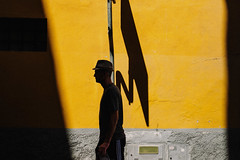 Signs of life (ewitsoe) Tags: street photography workshop graphic porto portugal streets urban city yellow silhouette wall canon ewitsoe summer vibes europe canon6dii 50 50mm 12f