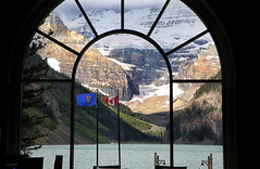 52 in 2018 Challenge - #27 - Frame within a frame. (crafty1tutu (Ann)) Tags: travel holiday canadaandalaska lakelouise window view scene challenge 52in2018challenge 27framewithinaframe crafty1tutu canon5dmkiii canon24105lserieslens anncameron