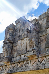 Power of the Maya (marktmcn) Tags: lightsaber statues statue optical illusion lens solar flare emanating emerging arm kabah uxmal mexico yucatán mayan site complex sky buildings archaeology archaeological dsc rx100 light beam artifact