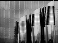 - - - pipes & stripes - - - (christikren) Tags: austria architecture blackwhite bw building christikren city contrast lines linescurves monochrome noiretblanc panasonic reflections sw stpölten landhaus stripes pipes digital structure abstract