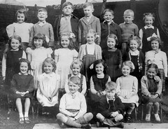 Class Photo (theirhistory) Tags: boy child kid girl trousers jacket wellies boots