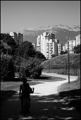And the mountain will sing for you (Plaisirs Graphic) Tags: montain song children grenoble pentax bw