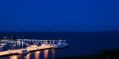 Port (Aguona*) Tags: poland krynicamorska europe nikon nikond3100 night lights boat blue landscape summer water boats harbor