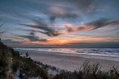Sunset by the sea (Marcin Frączek) Tags: łeba poland polska morze plaża ocean