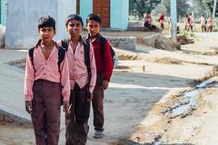 Three Indian Schoolboys, Mathura India (AdamCohn) Tags: adamcohn india mathura vrindavan boys holi schoolboys wwwadamcohncom