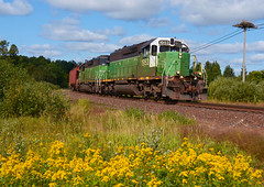 BNSF 1953- Revving out of Keenan (Khang Lu) Tags: bnsf burlington northern santa fe emd sd402 1953 keenan mn minnesota missabe dmir iron range locomotive engine railroad wye