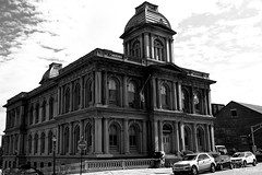 U.S. Customs House (Explored 10 September 2018) (iecharleton) Tags: customshouse portland maine architecture building secondempire renaissancerevival nationalregisterofhistoricplaces governmentbuilding sky blackandwhite monochrome monument historic historical business downtown urban newengland northeast city