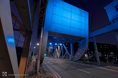 Stanley Dock Bascule Bridge Liverpool. (alundisleyimages@gmail.com) Tags: bridge docks industrial landscape maritime night longexposure road liverpool history span titanichotel merseyside beams girders port harbour northwestengland