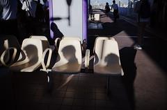 Shadows waiting for the train (Takashi.Tachi) Tags:
