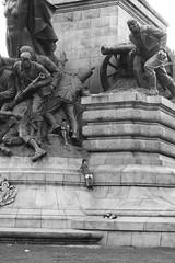 Monumental Slide (O Lobão) Tags: bw monocromático monochromatic monument monumento portugal porto rotundadaboavista sooc 750d kids crianças slide escorrega street rua moment momento