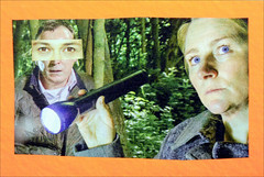 Mail Art Postcard No. 4567. (Dave Whatt) Tags: mailart postcard colour bright humour surrealism collage acting drama tv
