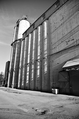 JJN_6794 (James J. Novotny) Tags: chicago adm farm silos bw d750 nikon city unlimitedphotos blackandwhite buildings citylife