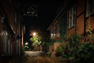 Nächtliches Lauenburg a. d. Elbe