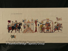 Panel 1 (Stamford Bridge Tapestry Project) Tags: tapestry stamfordbridge battleofstamfordbridge 1066 embroidery