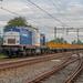 Noordwijkerhout VolkerRail 203-1 met werktrein r Leiden