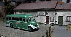 Another Afternoon Tea at the Parish Hall. (ManOfYorkshire) Tags: ockley parishall dewsway tuours besdford ob bedfordob coach afternoon stop diorama scratchbuilt 176 scale oogauge atlas atlaseditions 172